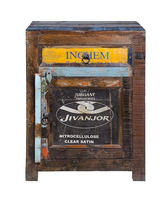 INDIA CLASSIC WOODEN BED SIDE CABINET , RECYCLE BED SIDE CABINET