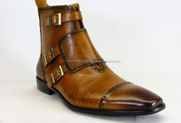 Men dress leather sole shoes