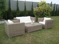 Exotic Outdoor Garden Synthetic Rattan Sofa Set (Betty Koobo Set)