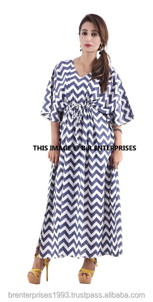 indian handmade wholesale arabic cotton printed embroidered kaftan dress