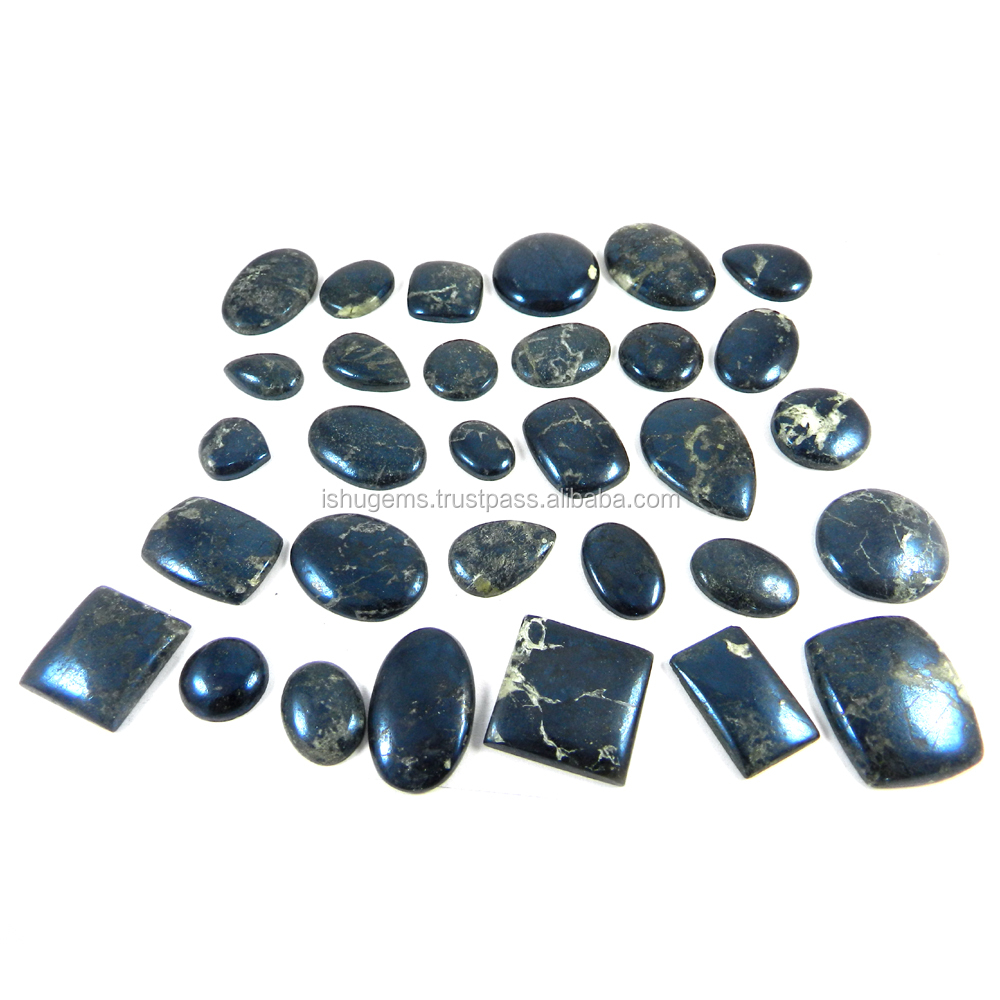 30 pcs High Quality ! 100 gms Covellite Obsidian Mix Cab gemstone for jewellery IG1854