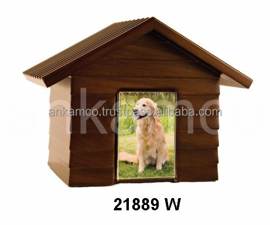 Dog House Wood Pet Urns