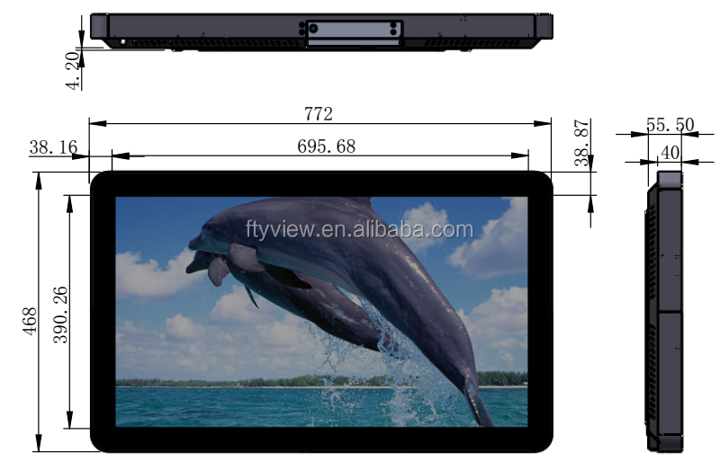 32 inch full hd media player video player lcd displayer