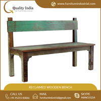 Antique Elegant Simple Vintage Reclaimed Wood Bench at Less Price