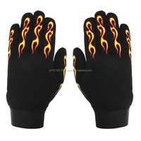 Printing yellow red flame mechanics gloves Working Gloves