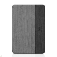 Wood Grain Leather Case for iPad mini 4, New Design slim wood texture pu cover for ipad mini 4