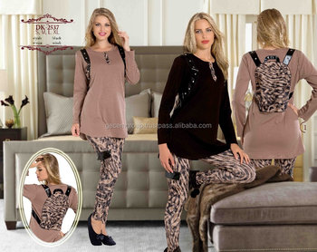 stylish design leggings winter pajamas set 2017