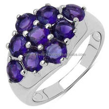 amazing beautiful elegant amethyst 925 sterling silver ring
