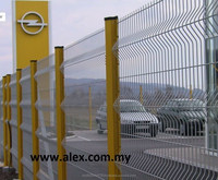 alibaba express green vinyl coated welded steel wire mesh fence /Fencing for sale