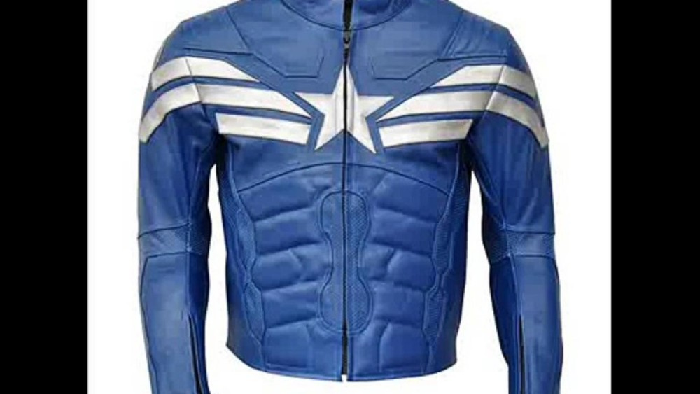 Captain America Costume Leather Jacket The Winter soldier Leather Cosplay black biker jacket