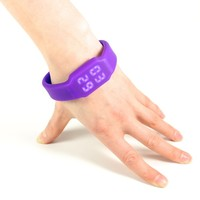 LED fashionable watch with 4 GB flash card, smart creative watch (violet color)
