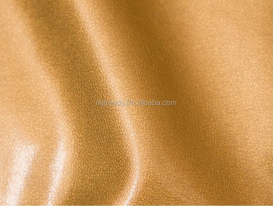 Gold stretch faux leather