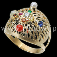 High quality party jewelry with Natural crystal and 18k gold , Japan quality