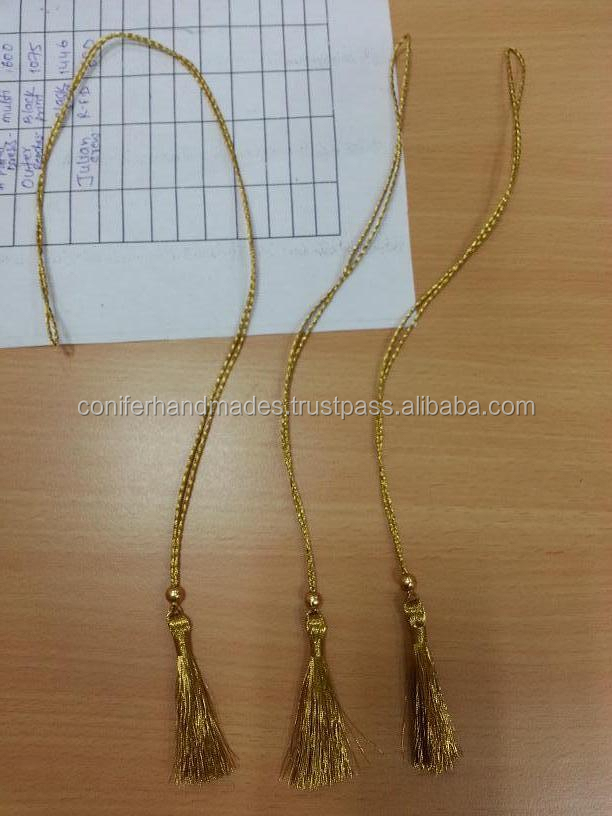 custom made tassels in gold thread suitable for use in wrapping envelopes and scroll invites can also be made in your sizes