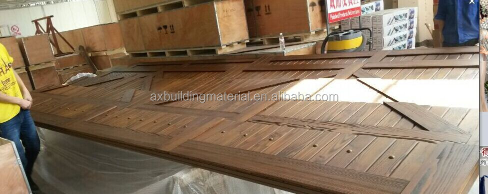 New Design Solid Wood Garage Door