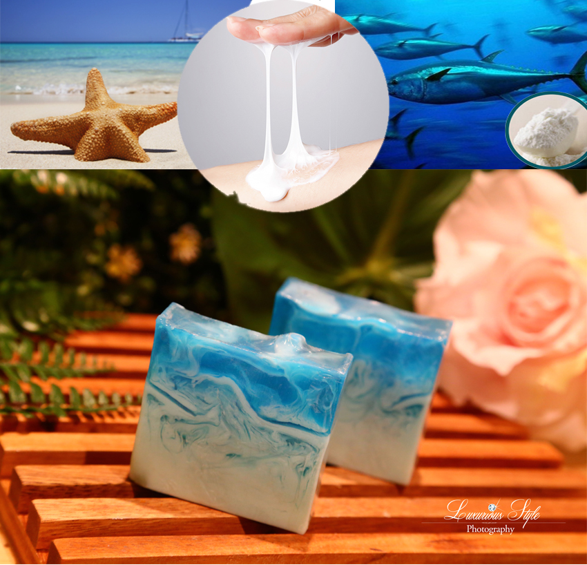 Starfish Slime with collagen deep sea fish mask soap (slime foam!!)