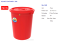 2017 April-PLASTIC ROUND CONTAINER - 160L No. 848; 5 Piece/Package; Blue, Red, Green-huynhthithanhthao@duytan.com