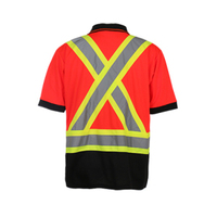 Star SG 100%cotton Orange Long Sleeve safety Work T shirt with Reflective tapes