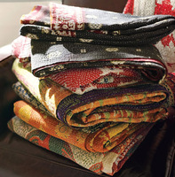 Hand Block Printed Bedspread new designs kantha quilts