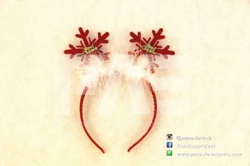 2015 Promotional Girl Fashion and Cute Snow Christmas Decorative Hair/Head Band,Hoop--Deer Horn