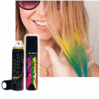 Temporary and Economical party goods ONE WASH Hair Color Spray with washable.