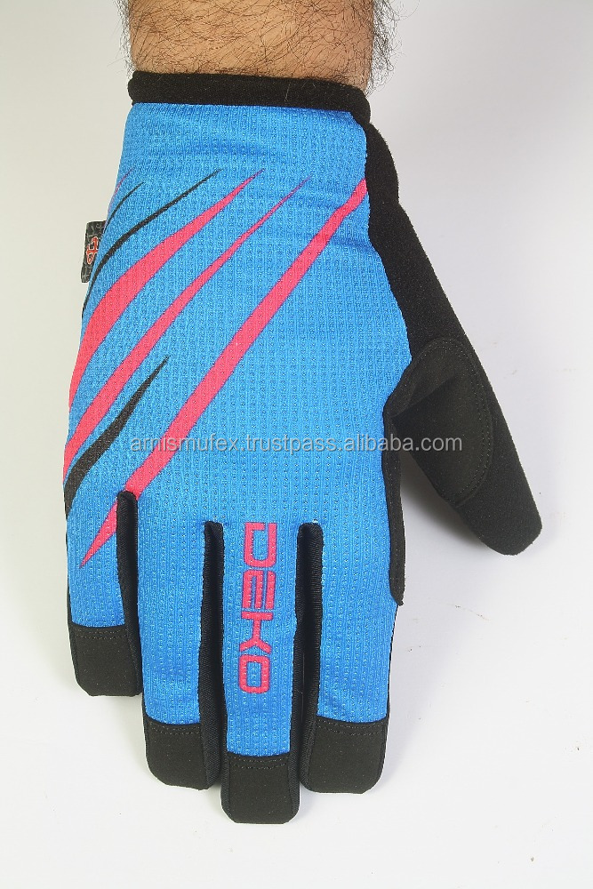 Full Finger Men MX Motocross Dirt Bike gloves with non-slip printing