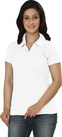 100% cotton knitted fabric embroidered printed polo collar t shirt for women
