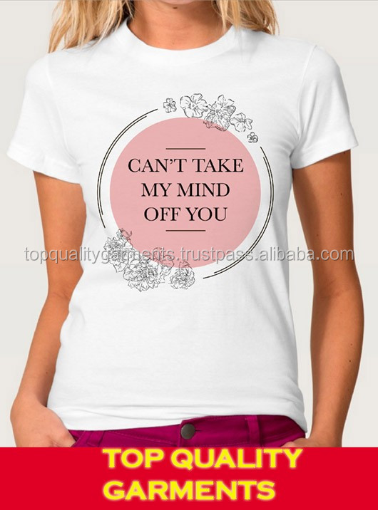 Can't Take My Mind Off You Girls Ladies Women Cotton Pink Printed Cute Tee Tshirt Casual Wear Dress Clothing Light #727191215