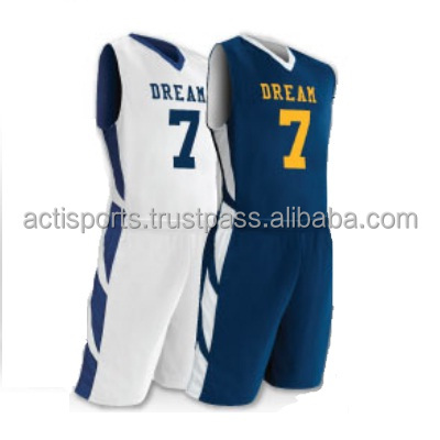 2017 Latest Customized Cheap Reversible Basketball Uniform Jersey & Shorts
