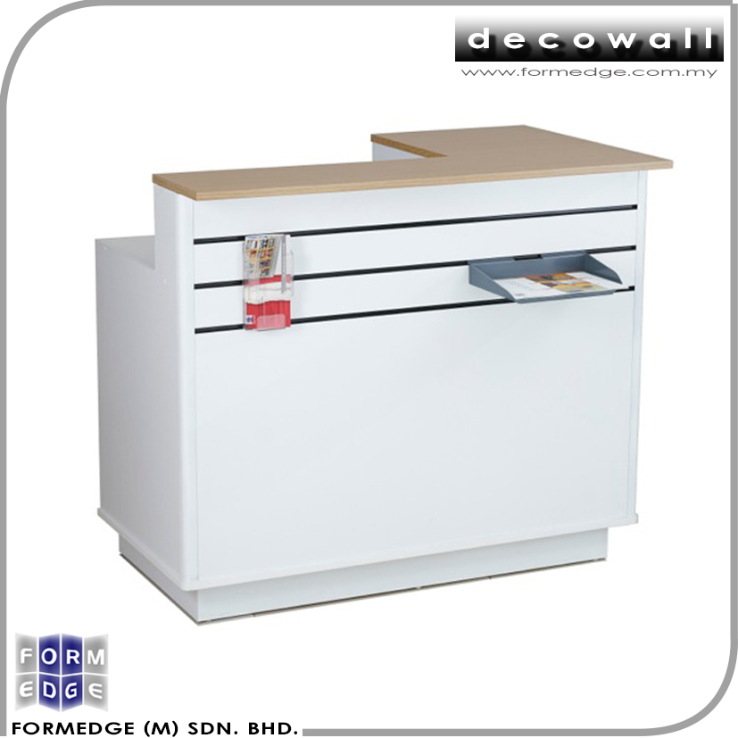 Affordable Quality Modern Small Retail Slatwall Cashier Counter