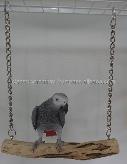 Fun and Healthy Wood Bird Toys - Swing Perch