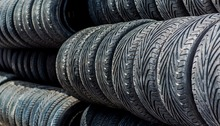 Used car tires from Germany in stock .