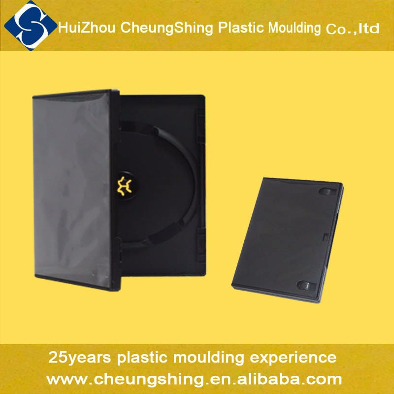 25 years factory in plastic manufacturing 14mm single black dvd box