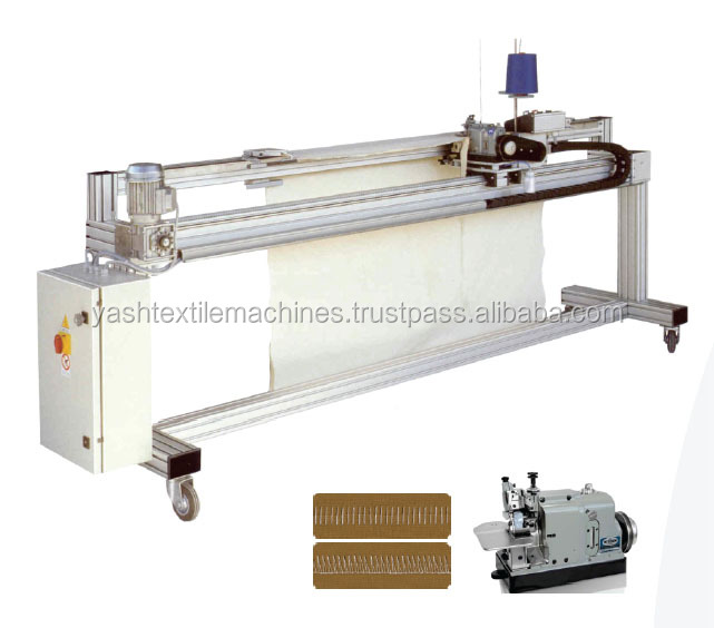 Linear Rail Sewing Machine with Flat butt / chain stitch