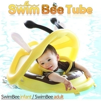 Swim Bee swimming inflatable circle r Tube infant /Non-toxic PVC/0.35mm Thick fabric / Outdoor swimming pool / Sun-blocking tube