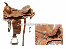 Western Saddle Hand Tooled & Hand Carved with comfortable leather seat