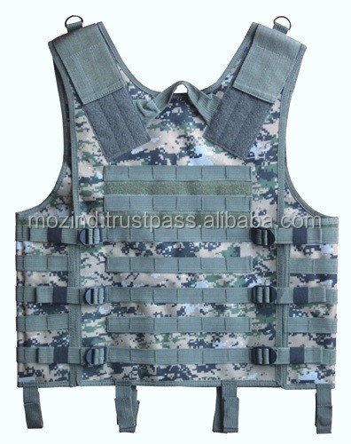 Molle Tactical ballistic body armor vest for army, Tactical Vest 8 Colors Mens Military Adjustable Combat Assault Plate carrier