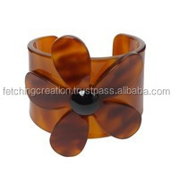 resin camical floral base design pattern Cuff Bracelet