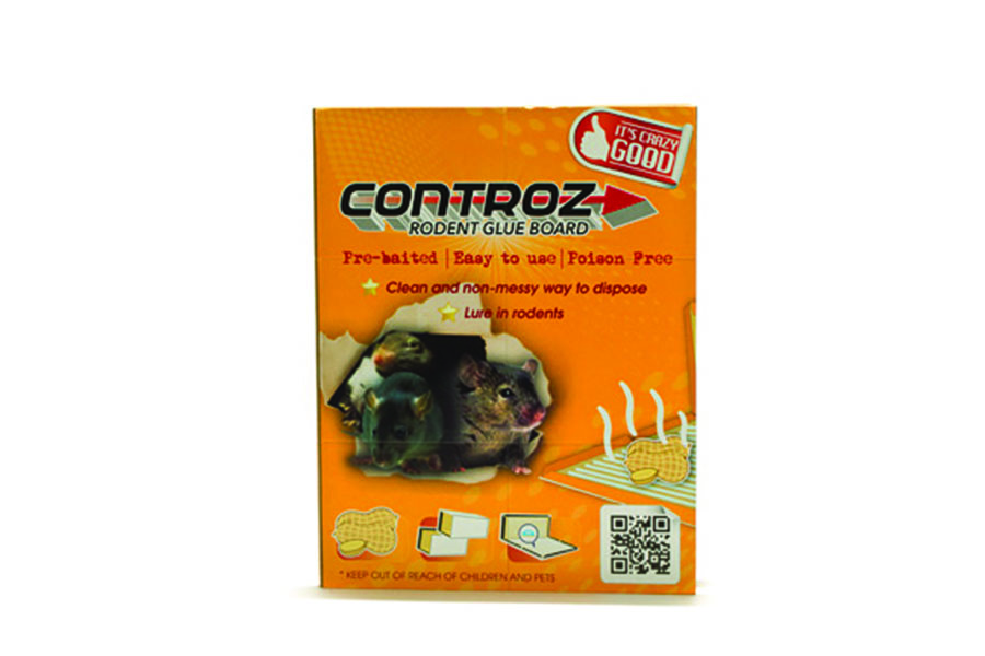 Controz Rodent Glue Board, Pre-baited glue board, Non-poisonous and disposable