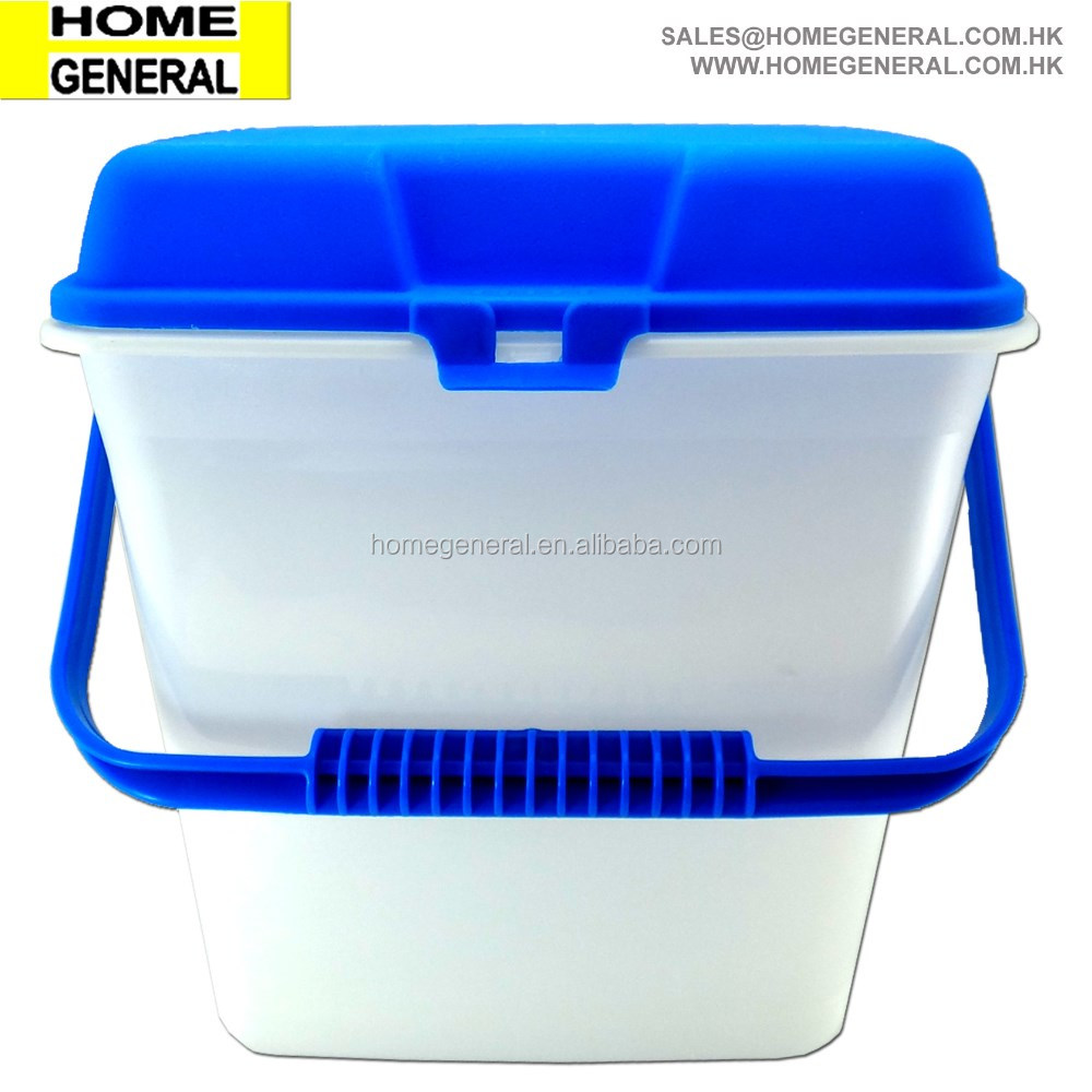 ALL PURPOSE PLASTIC BUCKET WITH LID AND HANDLE