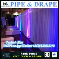 Singapore wholesale used pipe and drape backdrop panels with adjustable height made in China