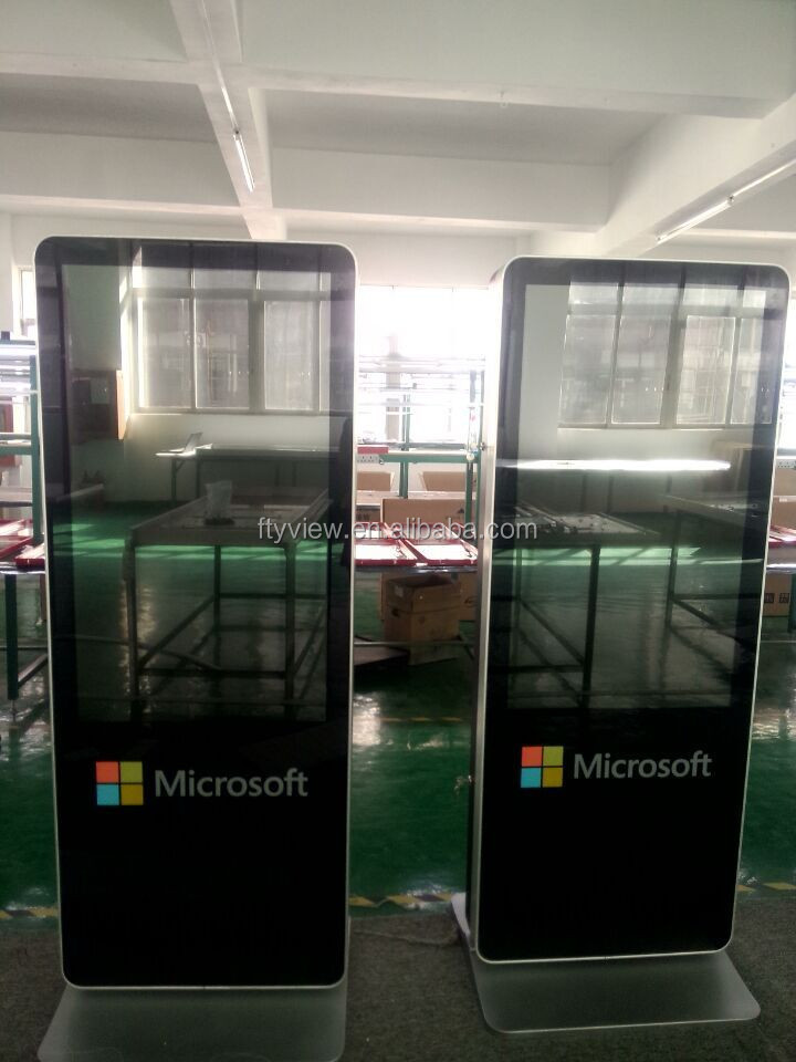 46 inch indoor floor stand Android double screen digital signage player