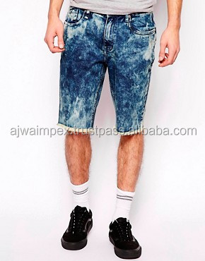 velvet acid washes shorts for men