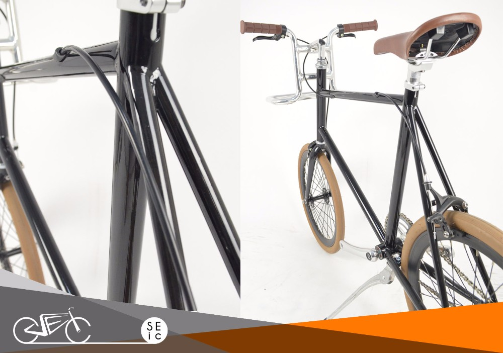 Redesigned fixed gear 20 inch classic mini city bike velo