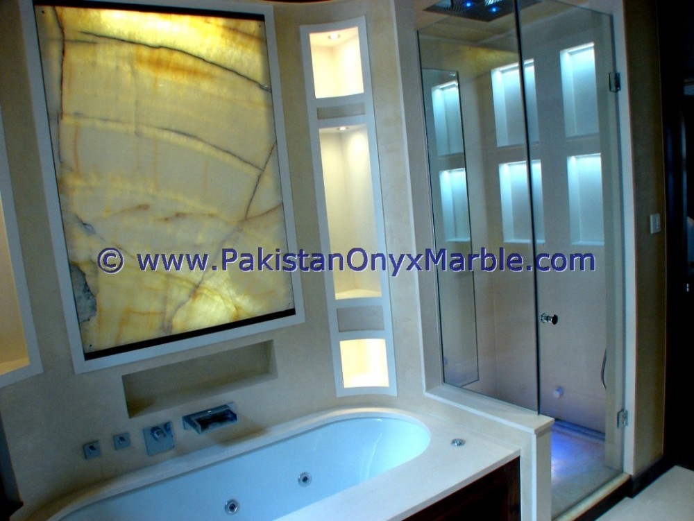 HOT SALE BACKLIT ONYX BATHROOM VANITYTOPS & SINKS