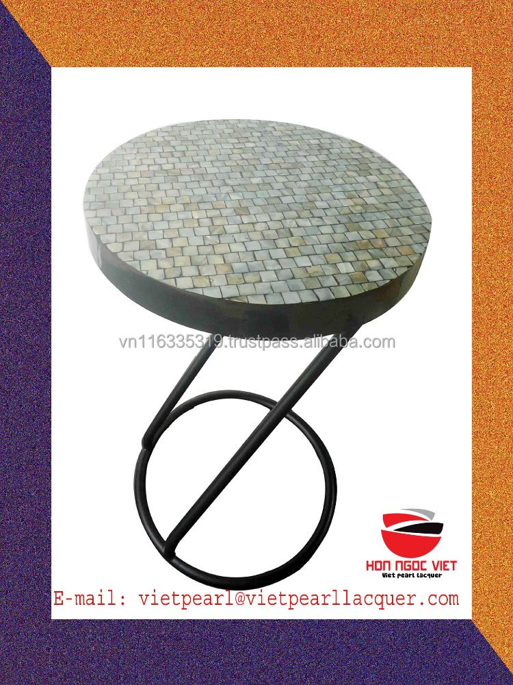 New design lacquer MDF and steel stand high quality coffee tables for home furniture