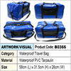 Blue Waterproof PVC Tarpaulin travel bag
