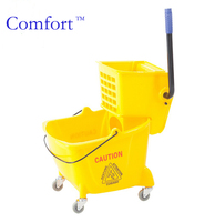 32 liters with wheels metal axes cleaning mop bucket wringer house hotel cleaning