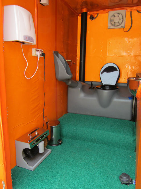 IOTA Mobile Toilet on Mini Truck