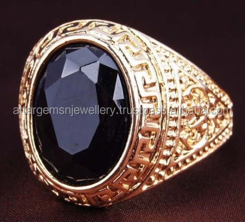18K-GOLD-EP-CZ-SAPPHIRE-OVAL-CUT-MENS-DRESS-RING-SIZE-8-11-YOU-CHOOSE 18K-GOLD-EP-CZ-SAPPHIRE-OVAL-CUT-MENS-DRESS-RING-SIZE-8-